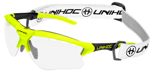 Sportsbriller - Unihoc floorball briller til unge - X-RAY junior, neon gul/sort