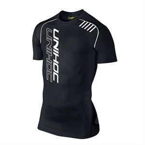Kortærmet kompressions t-shirt - Unihoc compression - floorball tshirt